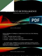 Assessment of Intelligence1