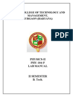 Phy Lab Manual 2nd Sem