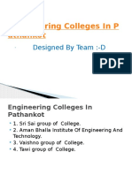 Engineering Colleges in Pathankot
