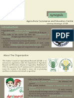 Agriculture Institute Thesis Synopsis