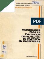 Evaluacion Inversion Carreteras - Mopu