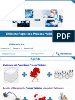 Efficient Paperless Process Validation