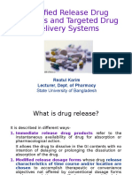 Modified Release Drug Products
