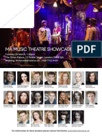 MA Music Theatre Showcase Invite 2017