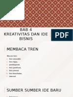 Bab 4 Kreativitas Dan Ide Bisnis