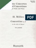 Millies - Conciertino Mozart Estilo Violin y Piano