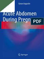 G.augustin - Acute Abdomen During Pregnancy - 2014