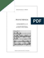BENDA Concerto in a Vn Strings SCORE 85
