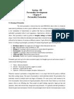 Section -III Personality Development