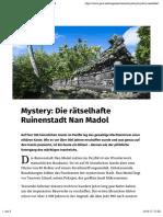 Die Raetselhafte Ruinenstadt Nan Madol