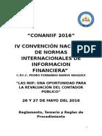 REGLAMENTO CONANIIF 2016