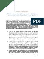 Comunicado Oficial de Mariana Pajón