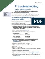 Wifi Troubleshooting