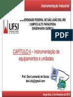 Capitulo 4 - Instrumentacao de Equipamentos e Unidades