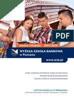 Informator 2017 - Studia I Stopnia - Wyższa Szkoła Bankowa w Poznaniu