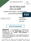 Cours Bio Cell 2011-Etudiants