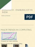 Khaditech Enabling IoT in India