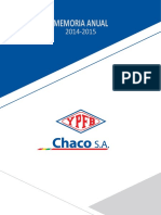Memoria Anual YPFB Chaco SA 2014-2015