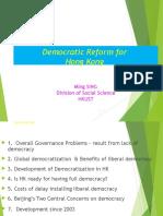 Democratic Reform in Hong Kong