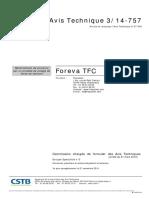 Avis Technique 3 14 757 TFC