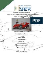 Proyecto Diseno de Productos (Prototipo auto eléctrico)