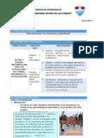 SESIÓN DE APRENDIZAJE - 5° C  - MODELO
