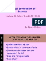 Chapter 10 Sale of Goods Act - Lecture 19