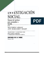 Lipman Matthew - Investigación Social