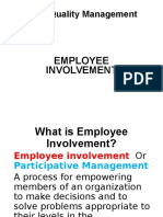 Employee Involvement Tqm