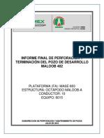 """Maloob402_pt_e_if_informe Final de Perforaciã""""n y Terminaciã""""n Del Pozo de Desarrollo Maloob 402_241010"""