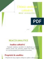 Curs 3 Reactii Analitice