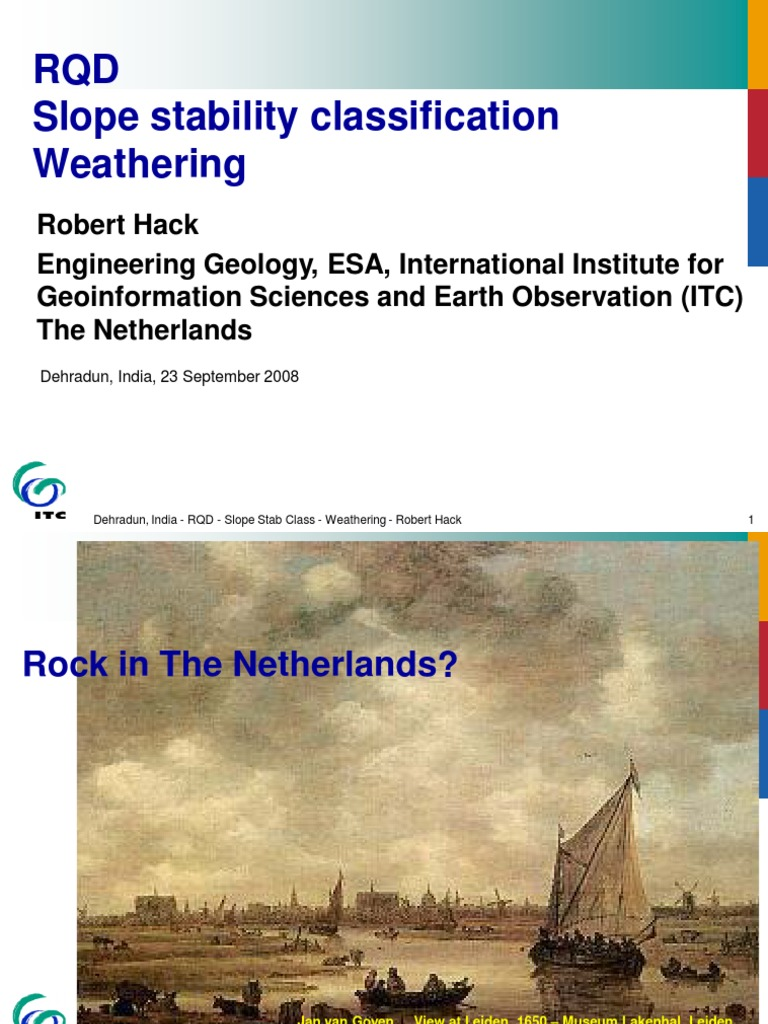 Hack Rqd Ppt | Geotechnical Engineering | Geology