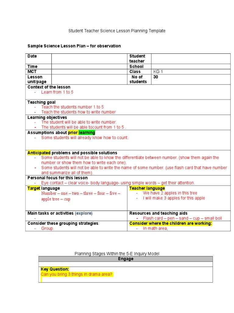 lesson plan liz 3 | Educational Assessment | Lesson Plan