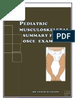Pediatric Musculoskeletal Summary for Osce Exam