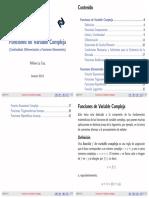 Resumen Funciones Variable Compleja