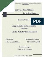 Apprciation Du Contrle Cycle Achat Fournisseur Marjane