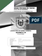 Informe 08 Laboratorio de Quimica