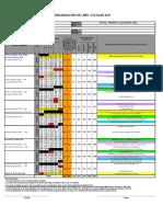 Calendarizacion Escolar 2017 (Excel)