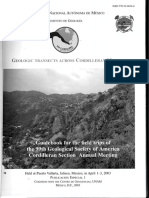 Geologic Transects Cordilleran Mexico