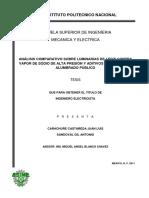 ANALISIS COMPARATIVO SOBRE LUMINARIAS DE LEDS CONTRA VAPOR DE SODIO DE ALTA PRESION Y ADITIVOS METALICOS EN ALUMBRADO PUBLICO.pdf