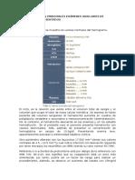INTERPRETE LOS PRINCIPALES EXÁMENES AUXILIARES DE LABORATORIO PRESENTADOS