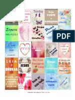 25 Adesivos Para Seu Caderno de Oração