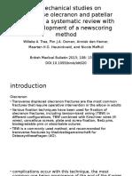 Biomechanical Studies on Transverse Olecranon and Patellar Fractures