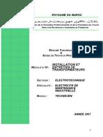 M19 Installation Et Entretien de Transformateurs by Www.genie-electromcanique.com