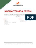 Nt 29 2014 Comercializacao Distribuicao e Utilizacao de Gas Natural