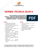 Nt 28 2014 Gas Liquefeito de Petroleo Parte 2 Armazenamento de Recipiente Transportavel de Glp