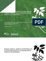 Manual Para El Manejo Sustentable de Plantas Medicinales