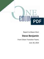 One Columbia Report to Mayor Steve Benjamin