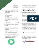 Problemas E y M (Carga Electrica, Campo Electrico y Potencial Electrostatico)