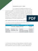 Analisis de La Ley 30056